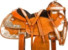 Tan Silver Western Pleasure Show Horse Saddle Tack 16 [10046]