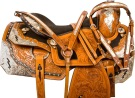 Lightning Silver Western Pleasure Horse Show Saddle Tack 16