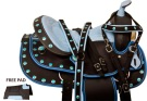 Blue Concho Western Trail Synthetic Horse Saddle Tack 14
