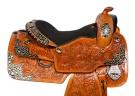 Custom Floral Silver Premium Western Show Horse Saddle 16[10148]