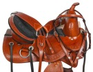 Treeless Western Pleasure Leather Horse Saddle Tack 18[10157]