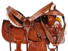 Tooled Barrel Racing Western Horse Trail Saddle Tack 14 15 [10173]