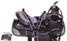 Purple Silver Synthetic Western Horse Saddle Tack 14 16 [10187]