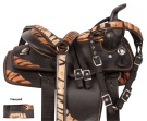 Tiger Print Western Synthetic Youth Pony Saddle Tack 12 [10503] (Out Of Stock)