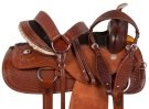 Rough Out Barrel Ranch Trail Western Horse Saddle 17 [10517] (Out Of Stock)