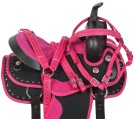 Adorable Pink Crystal Pony Kids Youth Saddle Tack 10 12 [10531]