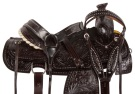 Dark Brown Western Roper Ranch Horse Saddle Tack 15