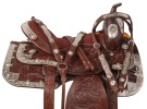 Flashy Dark Brown Western Pleasure Show Saddle Tack 16 17