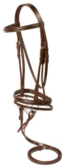 Brown All Purpose Flash Noseband English Bridle Reins Bit [10646]