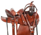 Round Skirt Western Pleasure Trail Horse Saddle Tack 15 18 [10707]