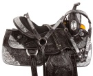 Black Silver Western Parade Show Horse Saddle Tack 18 [10715]