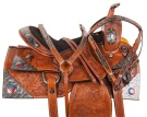 Patriotic Western Show Silver Bling Horse Saddle Tack 16 [10716] (Out Of Stock)