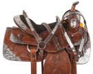 Brown Silver Western Pleasure Show Horse Saddle Tack 17 [10717] (Out Of Stock)