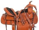 Western Pleasure Trail Chestnut Horse Saddle Tack 16 18[10718]