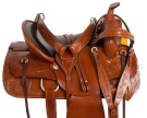 Tan Western Pleasure Trail Ranch Horse Saddle Tack 15 18