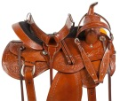 Chestnut Comfy Pleasure Trail Western Horse Saddle 15 16 [10722]