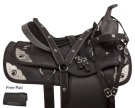 Pistol Black Synthetic Western Trail Horse Saddle 14 18 [10723]