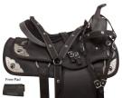 Pistol Black Synthetic Western Trail Horse Saddle 14 18[10723]