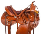 Chestnut Leather Pleasure Trail Western Horse Saddle 17 18 [10724]