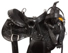 Black Leather Pleasure Trail Western Horse Saddle 15 18 [10725]