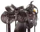 Comfy Dark Brown Trail Western Horse Saddle Tack 18 [10726]
