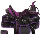 Cute Purple Western Youth Kids Trail Pony Saddle Tack 10 [10729]