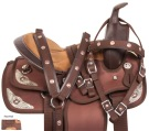 Brown Silver Western Pony Kids Youth Saddle Tack 10 [10731]