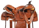 Chestnut Studded Roper Ranch Western Horse Saddle 15 18 [10735]