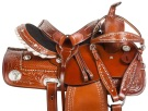 Crystal Tooled Western Barrel Racer Horse Saddle Tack 14 [10736] (Out Of Stock)