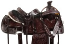 Dark Brown Studded Roper Ranch Western Horse Saddle 18 [10737]