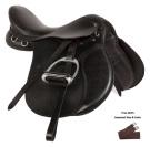 Black Leather All Purpose English Horse Saddle 16 18[10738]