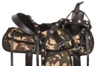 Western Camo Synthetic Pleasure Horse Saddle Tack 16 18