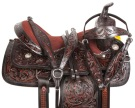 Beautiful Black Barrel Racing Western Horse Saddle 16