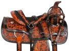 Black Inlay Roper Ranch Western Horse Saddle Tack 17[10758]