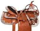 Chestnut Leather Western Pleasure Show Horse Saddle 16 17[10767]