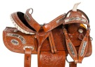 Cowgirl Up Barrel Racing Western Horse Saddle Tack 14 16 [10773W]