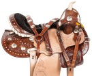 Studded Pro Barrel Racing Western Horse Saddle Tack 14