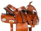 Crystal Leather Western Barrel Horse Saddle Tack Set 14 16