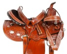 Tooled Barrel Western Pleasure Trail Horse Saddle 14 15 [10778]