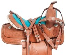 Turquoise Crystal Youth Kids Western Pony Saddle Tack 10 13 [10779]