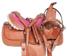 Pink Cowgirl Kids Youth Western Pony Show Saddle Tack 10 12 [10781]