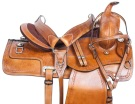 Hand Carved Comfy Western Pleasure Horse Saddle Tack 17 [10789]