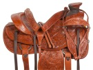 Tooled Roping Ranch Wade Tree Western Horse Saddle 16 [10790]