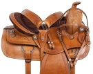 Comfy Chestnut Extra Wide Western Horse Saddle Tack 17[10791] (Out Of Stock)