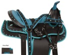 Blue Crystal Western Pleasure Trail Show Horse Saddle 14 18 [10799]