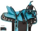 Turquoise Silver Western Barrel Racer Horse Saddle Tack 16[10800]