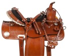Crystal Western Trail Barrel Racing Horse Saddle Tack 14 16