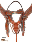 Turquoise Wing Breast Collar Headstall Horse Western Tack Set [10809]