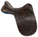 Beautiful Tooled Black Brown Australian Horse Saddle