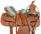Turquoise Barrel Racing Western Trail Horse Saddle 14 [10815] (Out Of Stock)